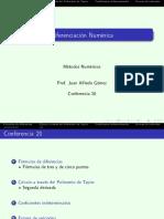 Conf 20 Diferenciacion Numerica 2s 2012