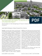 La problemática de Diseño con Árboles en Vías Urbanas