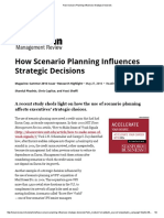 How Scenario Planning Influences Strategic Decisions