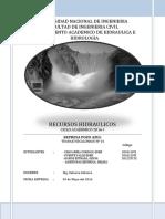 Recursos Hidráulico de la Cuenca Candarave - Tacna, parte 1