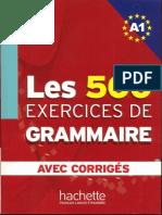 500 exercices de grammaire ,  А1