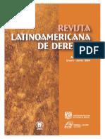 Revista Latinoamericana de Derecho. Número 1