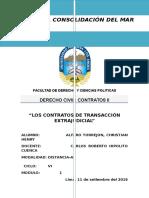 Contratos de Transaccion Extrajudicial