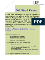 UOP E Assignments - ECO 561 Final Exam Answers Free