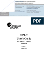 HPLC User's Guide, 32 Karat 5.0