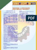 EDAD CONTEMPORÁNEA  LA RESTAURACIÓN REVOLUCIONES LIBERALES - NAPOLEÓN III