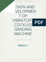 Design and Development of Vibratory Cockles Grading Machine