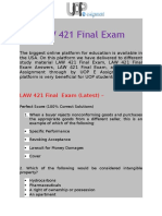 UOP E Assignments   LAW 421 & LAW 421 Final Exam Answers Free