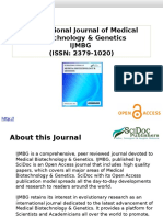 Medical Biotechnology and Genetics Journal - SciDocPublishers