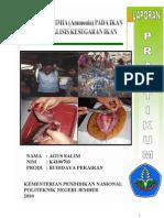 Analisis Bagian Ikan Yang Dapat Dimakan Dan Analisis Kandunngan Kimia (Amoniak) Pada Daging Ikan