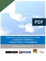 Euskal Ekonomiaren Egiturazko Erronkak. GARAPEN EREDUA ZEHAZTEKO OINARRIAK