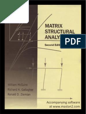 matrix estructural pdf | Structural Analysis | Finite