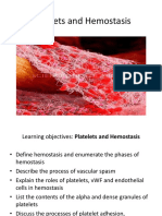 Platelets and Hemostasis