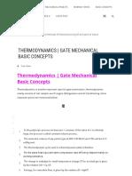 Thermodynamics Gate Mechanical