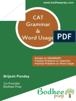 CAT Grammar and Word Usage by Bodhee Prep-150 Pages