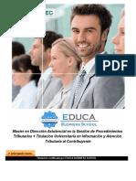Master en Dirección Asistencial en la Gestión de Procedimientos Tributarios + Titulación Universitaria en Información y Atención Tributaria al Contribuyente