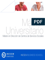 Master en Dirección de Centros de Servicios Sociales (Titulación Universitaria Propia + 60 Créditos ECTS)