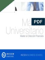 Master en Dirección Financiera (Titulación Universitaria + 60 Créditos ECTS)