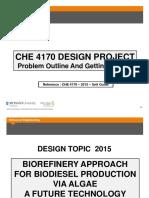CHE 4170- Problem Outline
