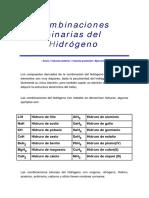 Combinaciones Binarias Del Hidr-Ógeno