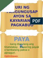 Group 3-Uri Ng Pangungusap Ayon Sa Kayarian o Pagkabuo