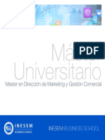 Master en Dirección de Marketing y Gestión Comercial (Titulación Universitaria + 60 Créditos ECTS)