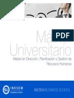 Master en Dirección, Planificación y Gestión de Recursos Humanos (Titulación Universitaria Propia + 60 Créditos ECTS)