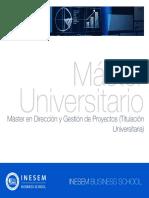 Máster en Dirección y Gestión de Proyectos (Titulación Universitaria)