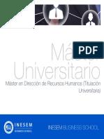 Máster en Dirección de Recursos Humanos (Titulación Universitaria)