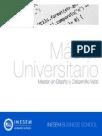 Master en Diseño y Desarrollo Web (Titulación Universitaria + 60 Créditos ECTS)