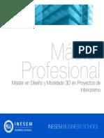 Master en Diseño y Modelado 3D en Proyectos de Interiorismo