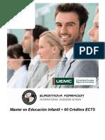 Master en Educación Infantil + 60 Créditos ECTS