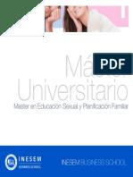 Master en Educación Sexual y Planificación Familiar (Titulación Universitaria + 60 Créditos ECTS)