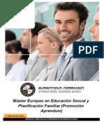 Máster Europeo en Educación Sexual y Planificación Familiar (Promoción Aprendum)