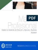 Master en Asistente de Dirección y Ejecutivo. Business Assistant