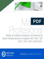 Master en Auditoría e Integración de Sistemas de Gestión Medioambiental y Energética