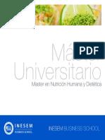 Master en Nutrición Humana y Dietética (Titulación Universitaria + 60 Créditos ECTS)