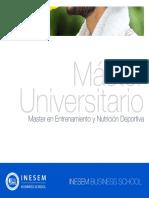 Master en Entrenamiento y Nutrición Deportiva (Titulación Universitaria + 60 Créditos ECTS)
