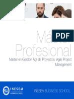 Master en Gestión Ágil de Proyectos. Agile Project Management