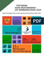 Pedoman Musrenbang 2016