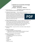 Format Rincian Proker KKN BBM 54 Univ. Airlangga