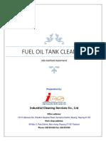 Fuel Oil Tank Cleaning procedure