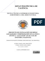 CERDA - Proyecto de Instalación de Riego Localizado y Fertilización en La Finca Rústica -Azagador...