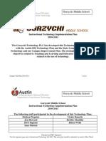 Gorzycki Tech Plan 2010-11