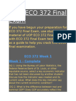 ECO 372 Final Exam | ECO 372 week 5 final exam answers - Studentwhiz
