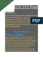 ECO 372 Final Exam | ECO 372 week 5 final exam answers - Studentwhiz