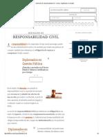 Definición de Responsabilidad Civil - Qué Es, Significado y Concepto