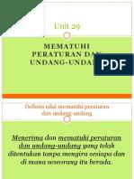 Unit 29 Mematuhi Peraturan Dan Undang-undang