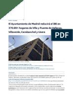 El Ayuntamiento de Madrid Reducirá El IBI en 370