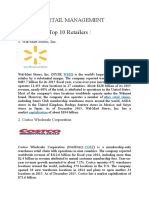 Top 10 Retail Company's In the WORLD